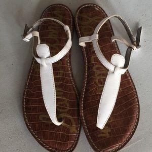 Sam Edelman White GiGi Sandals Size 8.5